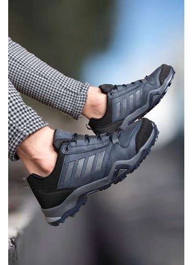 Riccon Siyah Füme Erkek Trekking Ayakkabı 0012189 Lacivert